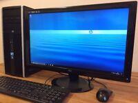 "Gaming PC HP Windows 10 Core i5 - 8GB Ram - 1TB HDD - NVIDIA Graphics + 22"" FULL HDMonitor Computer"