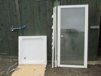 OPTIMA SHOWER DOOR AND TRAY