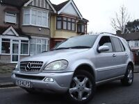 /// MERCEDES BENZ ML270 CDI AUTOMATIC DIESEL /// 2004 PLATE UPGRADED FULL OF EXTRAS/ 7 SEATER ML 270