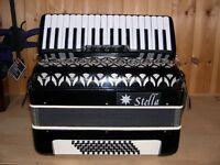 Stella, 60 Bass, 3 Voice, Piano Accordion,
