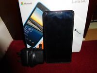 Nokia Lumia 640 with Glass Screen Protector as new locke to Vodafone as new