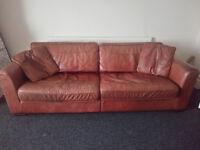 Large Leather Sofa - £40 ono