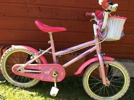 Pink Sparkle and Glitz bike 4/5-6 years