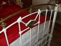 antique victorian brass & iron bed frame