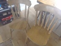 X2 solid pine chairs