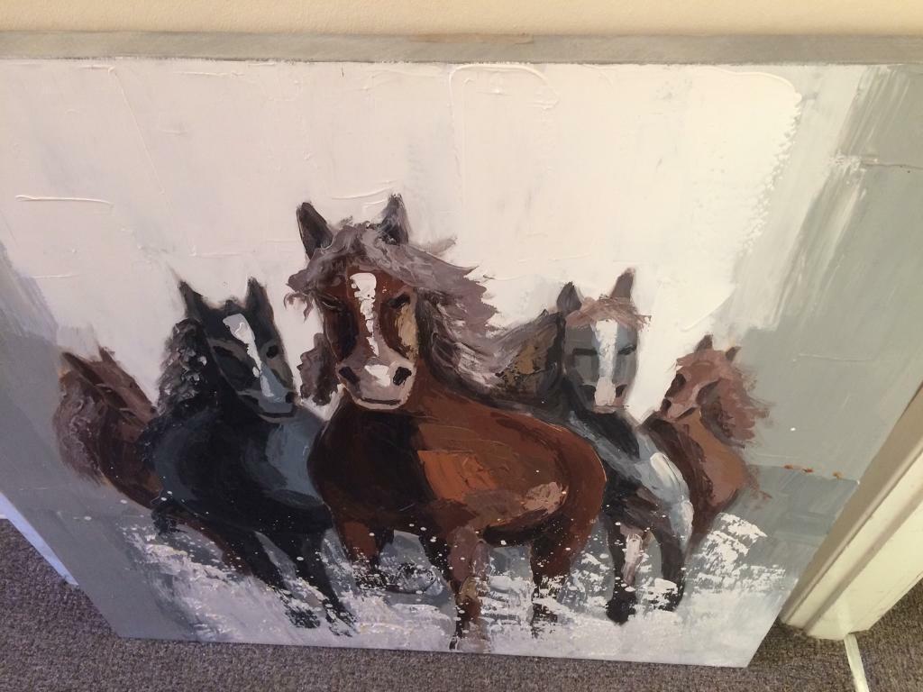 cc1a6b3ccfd Large horse canvas
