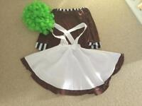 Girls Oompa Loompa Costume, Age 9-10