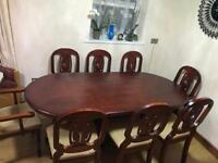 Dining table and chairs + 2 2seater chair
