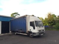 Iveco tector cargo box van curtainsider 04 7.5 ton lorry taillift new tyres work delivery offers