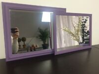 2 X Lilac Purple Mirrors