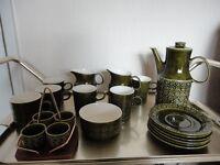 Connemara design breakfast set of cups, saucers, jugs and egg cups