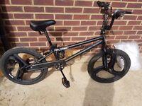 """Black 20"""" zinc bmx bike"""