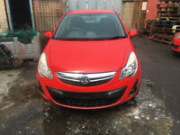 BREAKING - VAUXHALL CORSA D - BONNET - RED - ALL PARTS AVAILABLE - 2