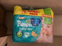 Pampers jumbo pack 4+