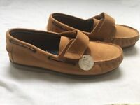 New brown soft nubuck leather