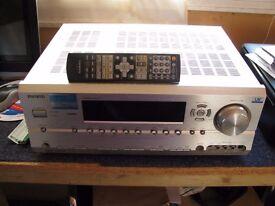 Onkyo Silver AV Receiver With Remote, Model TX-SR674E