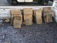 Sandstone effect patio slabs