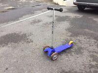 Blue mini micro scooter - microscooter