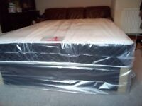 luxury king size bed. Memory mattress with Black divan. Free delivery