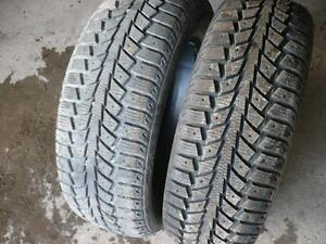 Two 205-65-16 snow tires $70.00
