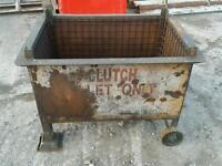 Heavy duty Stillage steel pallet box with wheels forklift from a fabrication company