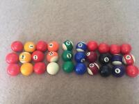 Kids pool balls