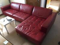Natuzzi Savoy Chaise sofa Red