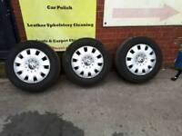 Vw transporter wheels ×3