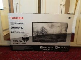 Toshiba 49 Inch Smart Full HD LED TV with Freeview Play - Brand New Boxed Not Opened Sealed