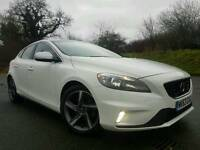 (WHITE) Sep 2013 Volvo V40 R-Design Sat-Nav 1.6 D2 (FREE ROAD TAX) STUNNING CAR! HUGE SPEC! FVSH!