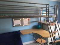 Hyder Studio Sleeper Bunk with Futon and Desk