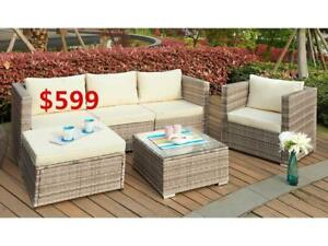 PIHA 4 PC PATIO SOFA SET--- Canada Wide Shipping