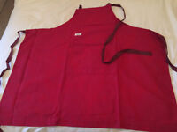 Beautiful Red Cotton French Designer Apron