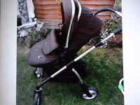 silver cross wayfarer black pushchair single stroller pushchair