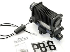 NIKON BELLOWS CLOSE UP ATTACHMENT PB-6 + double cable release AR-4