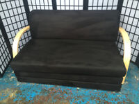 Ex Display Georgie Fold Out Sofa Bed In Black RRP £199