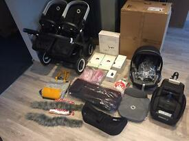 Bugaboo Donkey only 6 months old. Black frame. Leather. Loads extras
