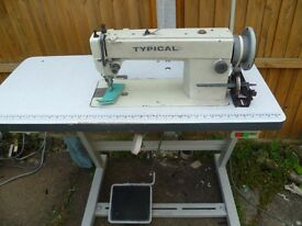 LARGE BOBBIN TYPICAL WALKING FOOT INDUSTRIAL MACHINE( Ideal for leather, upholstery,), Model GC0302