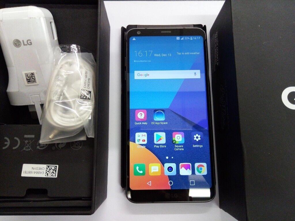LG G6 Boxed 32gb Black 5.8 bezel less display