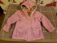 Pink Ladybird coat 5-6 yrs