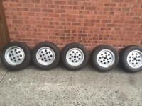 Ford Capri 2.8 pepper pots wheels and tyres