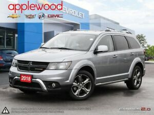 2018 Dodge Journey Crossroad AWD, LEATHER SEATING, DVD, NAV,R...