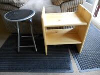 FREE WOODEN SHOE RACK AND FREE STOOL
