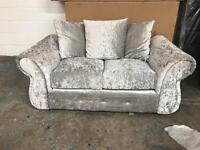 Crushed velvet 2 seater second hand good condition
