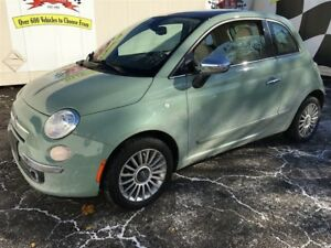 2013 Fiat 500 Lounge, Auto, Leather, Sunroof,