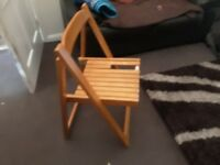 Fold up table and chairs - collection only