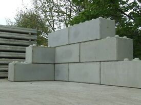 96 Concrete Lego Blocks