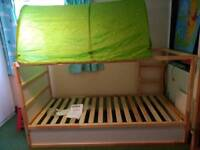 Ikea reversible bed. Excellent condition with canopy and pocket