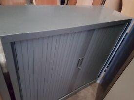 Tambour storage cabinet lockable