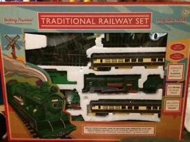 Traditional railway set plastic brand new